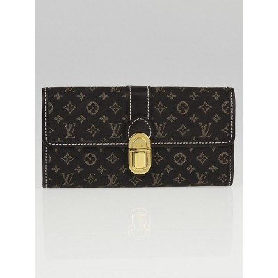 Louis Vuitton Ebene Monogram Idylle Canvas Sarah Wallet