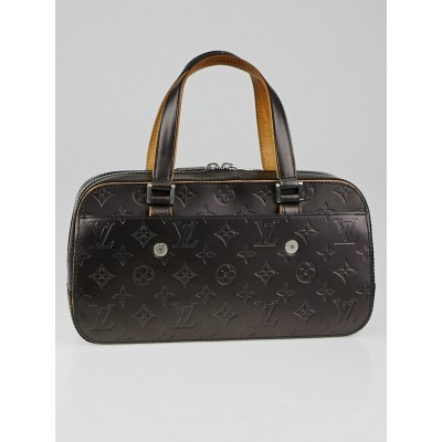 Louis Vuitton Black Monogram Mat Shelton Bag