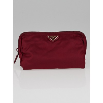 Prada Red Tessuto Nylon Cosmetic Bag