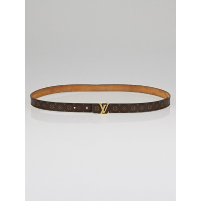 Louis Vuitton 25mm Mini Monogram Canvas LV Initials Belt Size 95/38