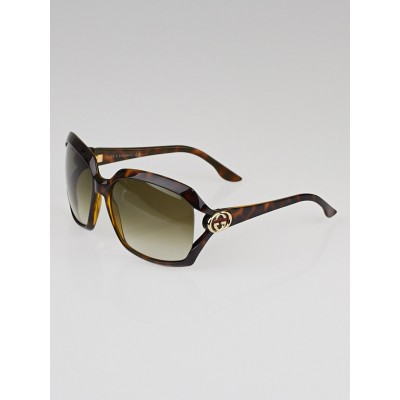 Gucci Green/Brown Tortoise Shell Frame GG Logo Havana Web Sunglasses- 3110