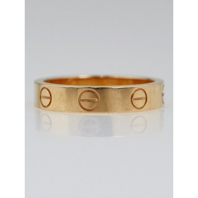 Cartier 18k Gold LOVE Ring Size 4.75/49