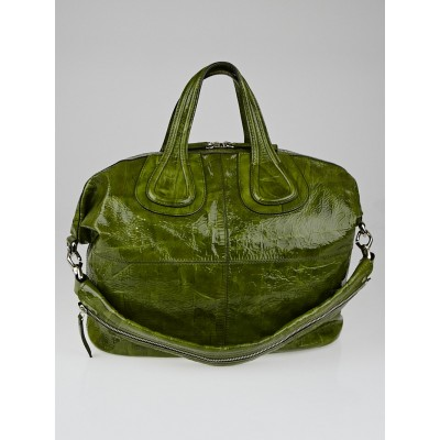 Givenchy Green Patent Leather Medium Nightingale Bag