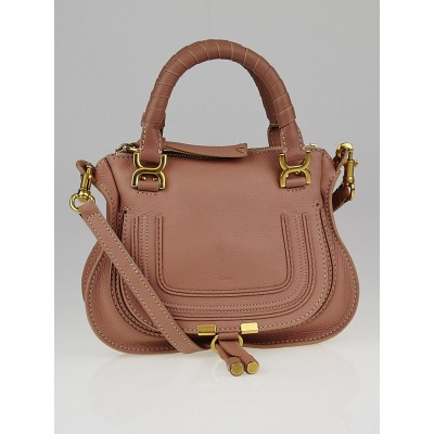 Chloe Anemone Pink Pebbled Leather Baby Marcie Bag