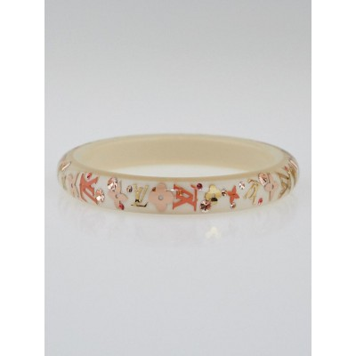 Louis Vuitton Beige Monogram Inclusion TPM Bangle Bracelet