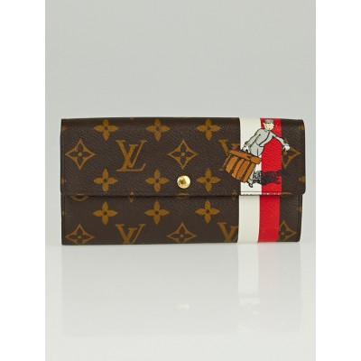 Louis Vuitton Limited Edition Red Monogram Groom Porte Monnaie Wallet