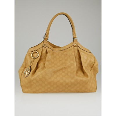Gucci Beige Guccissima Leather Large Sukey Tote Bag