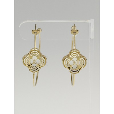 Louis Vuitton Gold Resin a La Folie Hoop Earrings