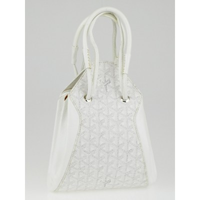 Goyard White Chevron Print Coated Canvas Mustique Accordion Shoulder Bag