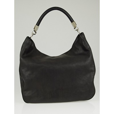 Yves Saint Laurent Black Pebbled Leather Roady Bag