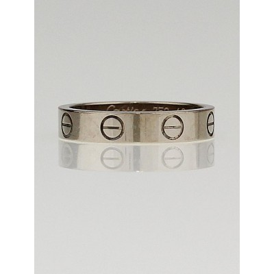 Cartier 18k White Gold LOVE Ring Size 4.75/49