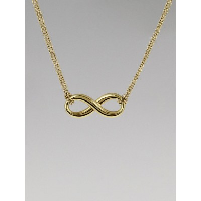 Tiffany & Co. 18k Yellow Gold Infinity Pendant