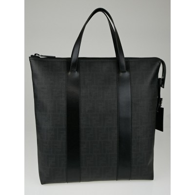 Fendi Black FF Print Coated Canvas Large Vertical Tote Bag 7VA286