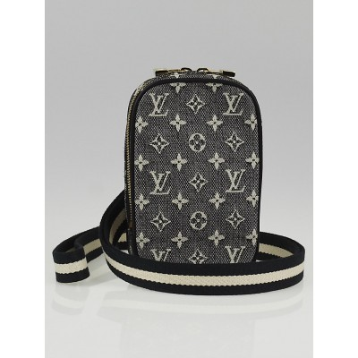 Louis Vuitton Black Monogram Mini Lin Canvas Camera Case Bag