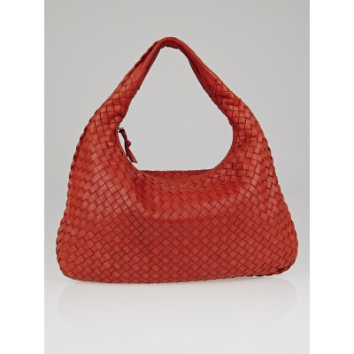 Bottega Veneta Pompei Intrecciato Woven Nappa Leather Medium Veneta Hobo Bag