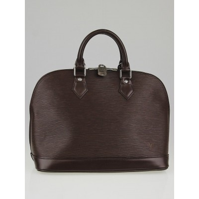 Louis Vuitton  Moka Brown Epi Leather Alma PM Bag