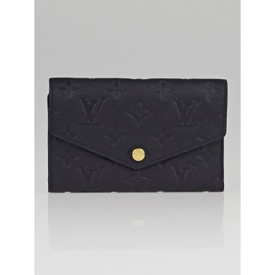 Louis Vuitton Blue Infini Monogram Empreinte Curieuse Compact Wallet