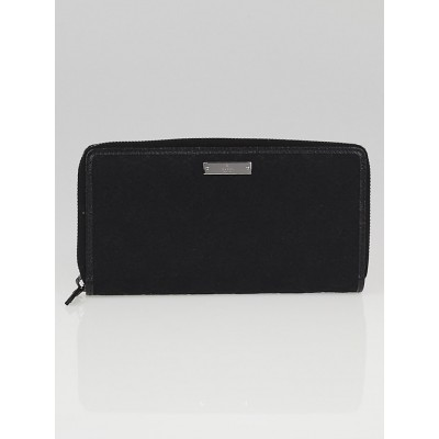 Gucci Black GG Canvas Zippy Long Wallet