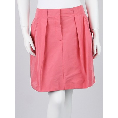 Louis Vuitton Pink Polyester A-Line Skirt Size 10/42