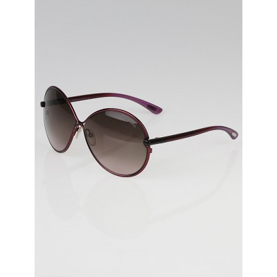 Tom Ford Purple Frame Gradient Tint Stefania Sunglasses - TF223