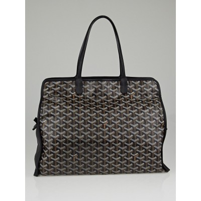 Goyard Black Chevron Print Coated Canvas Hardy PM Tote Bag