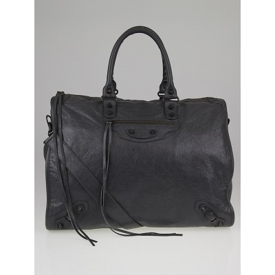 Balenciaga Gris Tarmac Lambskin Leather Kraft Bag