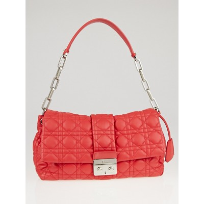 Christian Dior Pink Cannage Quilted Lambskin Leather New Lock Flap Bag
