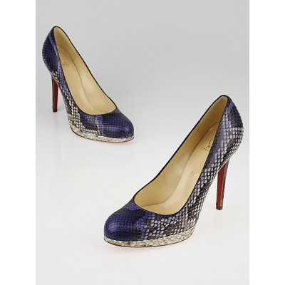 Christian Louboutin Purple Python New Simple 120 Pumps Size 8/38.5