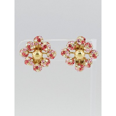 Louis Vuitton Orange Swarovski Crystal 1001 Nuits Clip-On Earrings