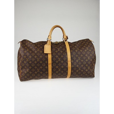 Louis Vuitton Monogram Canvas Keepall 60 Bag