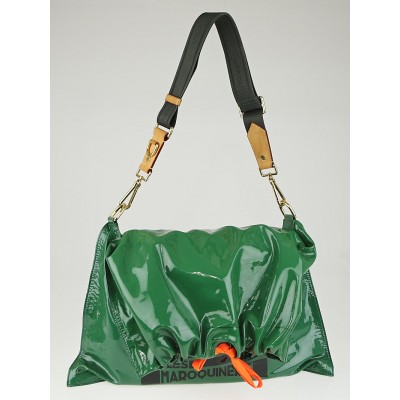 Louis Vuitton Limited Edition Emeraude Patent Leather Raindrop Besace Bag