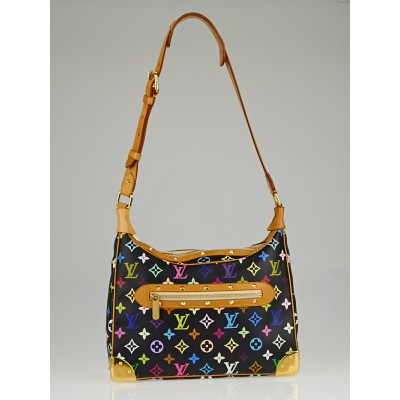 Louis Vuitton Black Monogram Multicolor Boulogne Bag