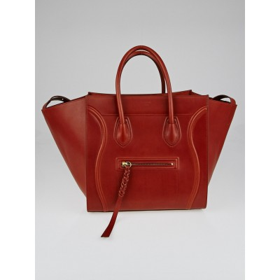 Celine Brick Natural Calfskin Leather Small Phantom Luggage Tote Bag