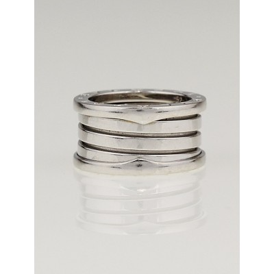 Bvlgari B.Zero1 18K White Gold 4-Band Ring Size 6/52