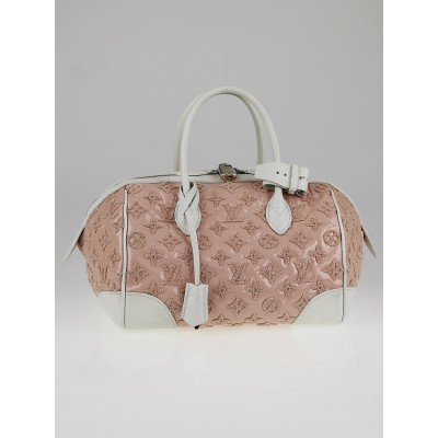 Louis Vuitton Limited Edition Rose Monogram Bouclettes Speedy Round Bag