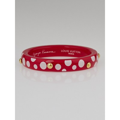 Louis Vuitton Limited Edition Yayoi Kusama Red Dots Infinity Bangle PM Bracelet Size S+