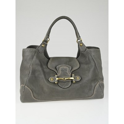 Gucci Grey Leather New Pelham Large Shoulder Bag