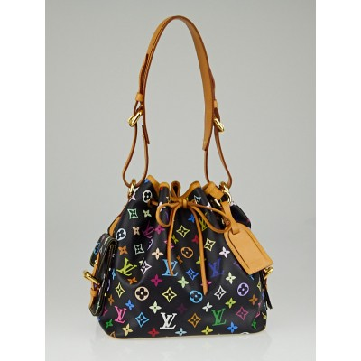 Louis Vuitton Black Monogram Multicolore Petit Noe Bag
