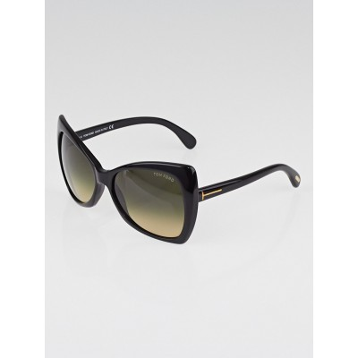 Tom Ford Black Frame Gradient Tint Nico Sunglasses-TF175