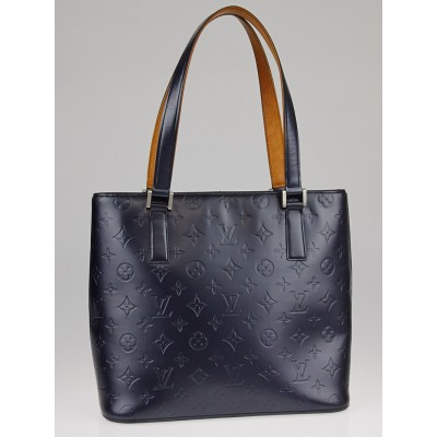 Louis Vuitton Bleu Monogram Mat Stockton Bag