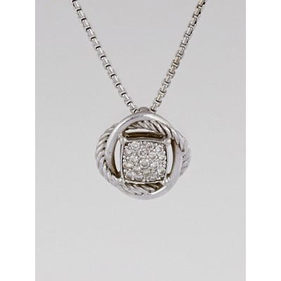 David Yurman Sterling Silver and Diamond Infinity Small Pendant Necklace