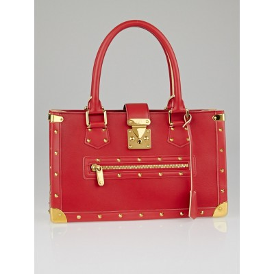 Louis Vuitton Geranium Suhali Leather Le Fabuleux Bag