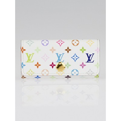 Louis Vuitton White/Litchi Monogram Multicolore Multicles 4 Key Holder