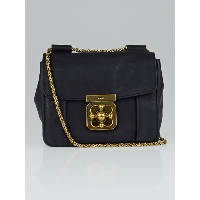 Chloe Black Leather Small Square Elsie Chain Shoulder Bag