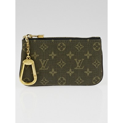 Louis Vuitton Khaki Monogram Mini Lin Canvas Pochette Cles Key and Change Holder