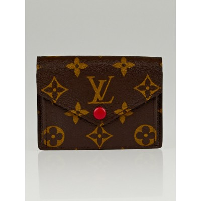 Louis Vuitton Monogram Canvas Red Marie Wallet