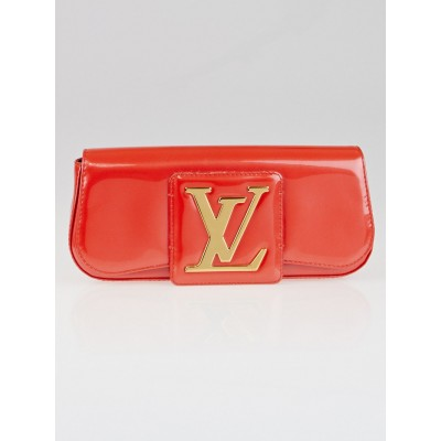 Louis Vuitton Orange Sunset Vernis Pochette Sobe Clutch Bag