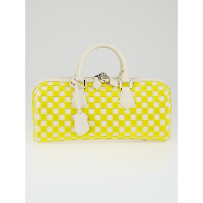 Louis Vuitton Limited Edition Yellow Damier Cubic East/West Speedy Cube Bag