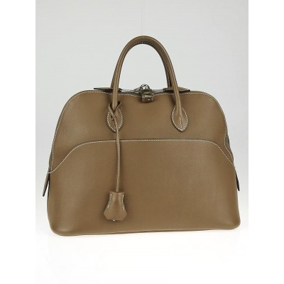 Hermes 31m Etoupe Swift Leather Web Bolide 1923 Bag