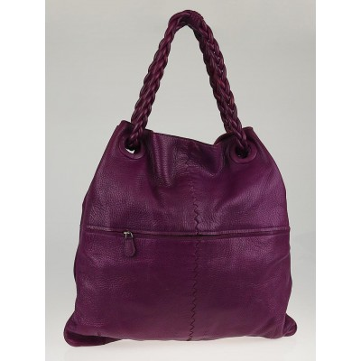 Bottega Veneta Orchid Cervo Leather Julie Large Tote Bag
